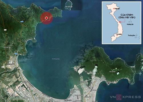 Dự án khu nghỉ dưỡng quốc tế tại Cửa Khẻm (vùng khoanh đỏ) của đèo Hải Vân.