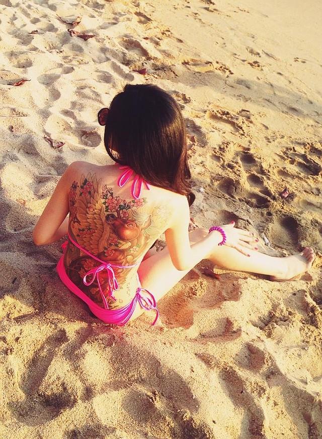 Cô bạn vừa có kỳ nghỉ hè Nha Trang