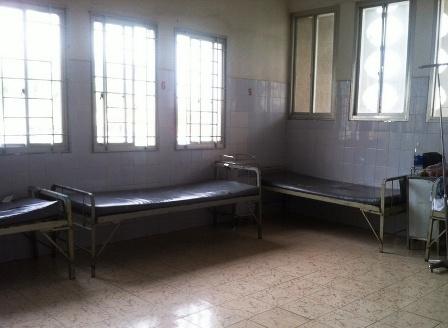 Căn phòng  sau sinh nơi chị T. nằm và bị người phụ nữ lạ mặt bắt cóc con mình
