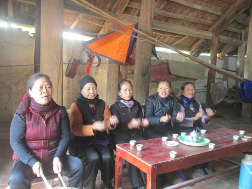 Một buổi tập hát của làng Xoan Phú Thọ