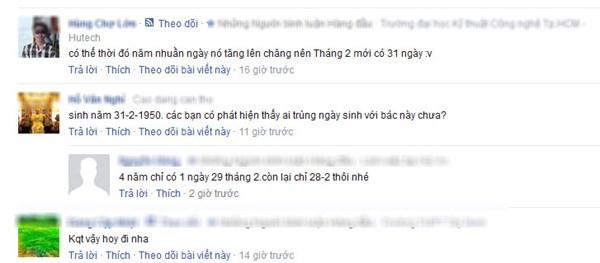 Bình luận của dân mạng về CMND cụ ông sinh ngày 31.2.