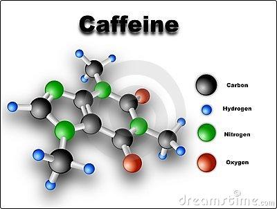 Cấu trúc phân tử caffeine có nhiều trong cà phê