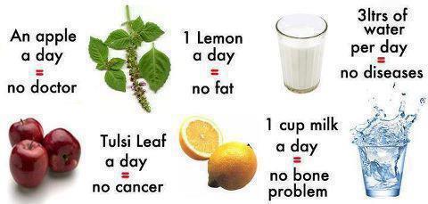 Nước, rau xanh, hoa quả và sữa rất tốt trong tăng cường sức đề kháng, phòng tránh bệnh tật
