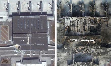 Một bức ảnh cũ cho thấy sân bay khi chưa bị tàn phá.