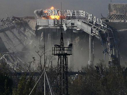 Sân bay Donetsk đã bị nã pháo trong các cuộc giao tranh.