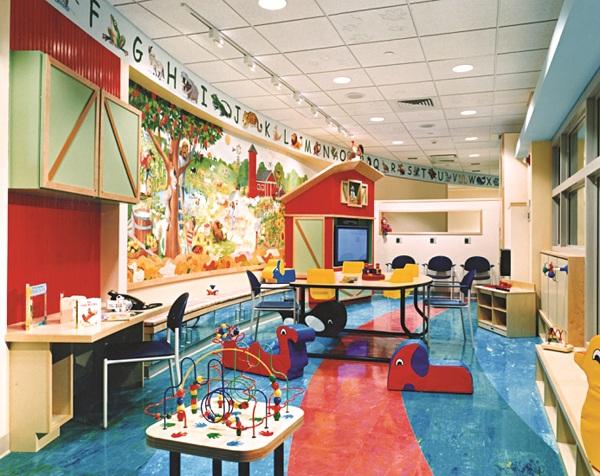 Bệnh viện được thiết kế như nhà trẻ