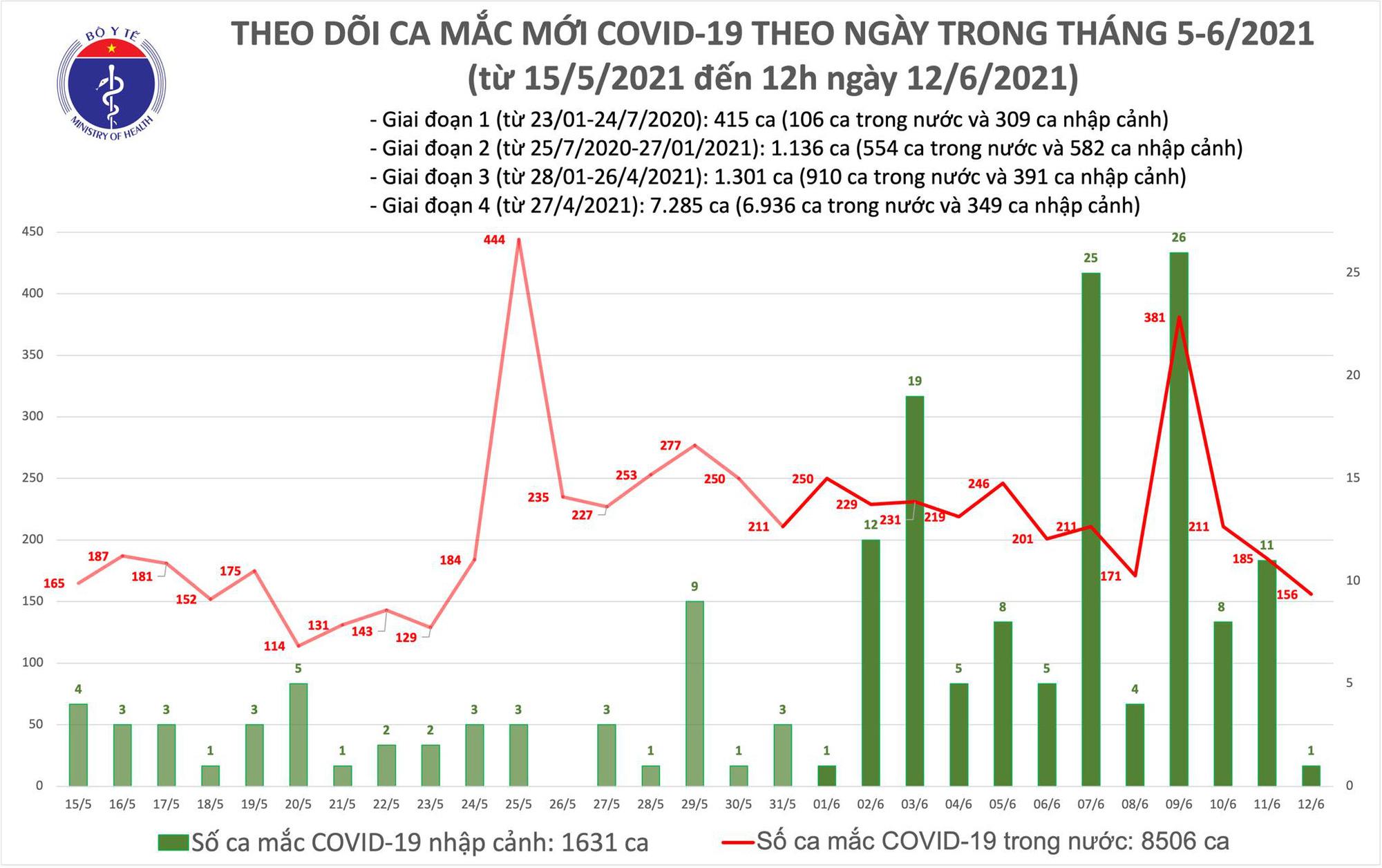 Diễn biến dịch ngày 12/6: Việt Nam ghi nhận 261 bệnh nhân mắc COVID-19 trong ngày  - Ảnh 13.