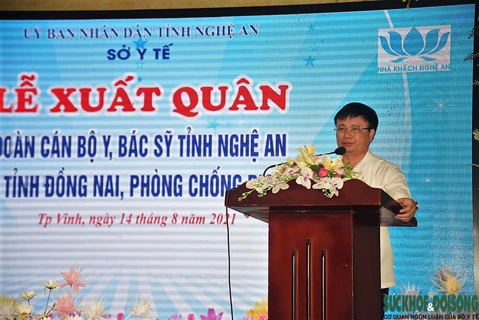 Nghệ An: Tiếp tục cử 30 cán bộ y, bác sĩ hỗ trợ tỉnh Đồng Nai chống dịch COVID-19  - Ảnh 1.