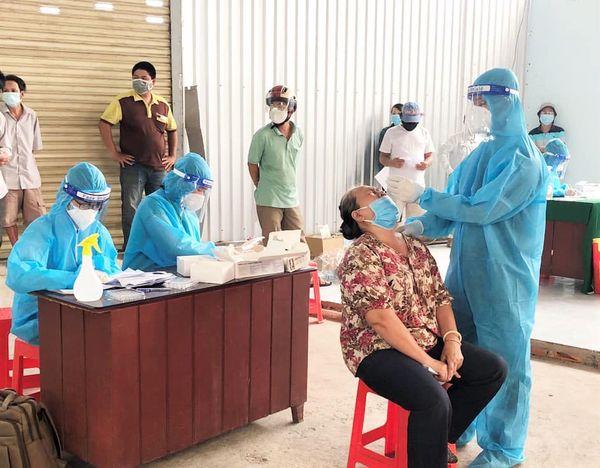 Một điểm lấy mẫu tại phường 3, TP Mỹ Tho, Tiền Giang