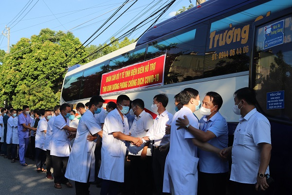 23 cán bộ y tế Điện Biên hỗ trợ Bình Dương chống dịch - Ảnh 4.