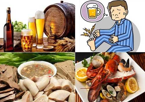 Thức ăn giàu purine sẽ làm tăng thêm tình trạng tăng acid uric máu sẵn có, thúc đẩy quá trình hình thành bệnh gout.