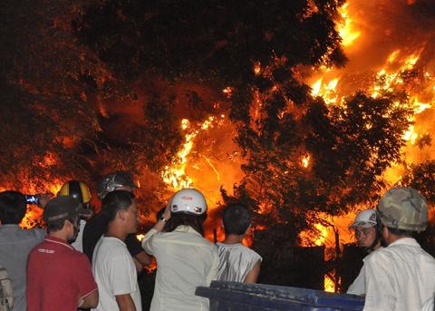 Hàng trăm lính cứu hỏa chữa cháy kho phế liệu 1