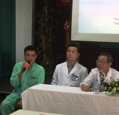 Bệnh nhân Lâm T. Đ đã bình phục sau khi được các BS BV Tai Mũi Họng TP.HCM tiến hành nội soi lấy dị vật