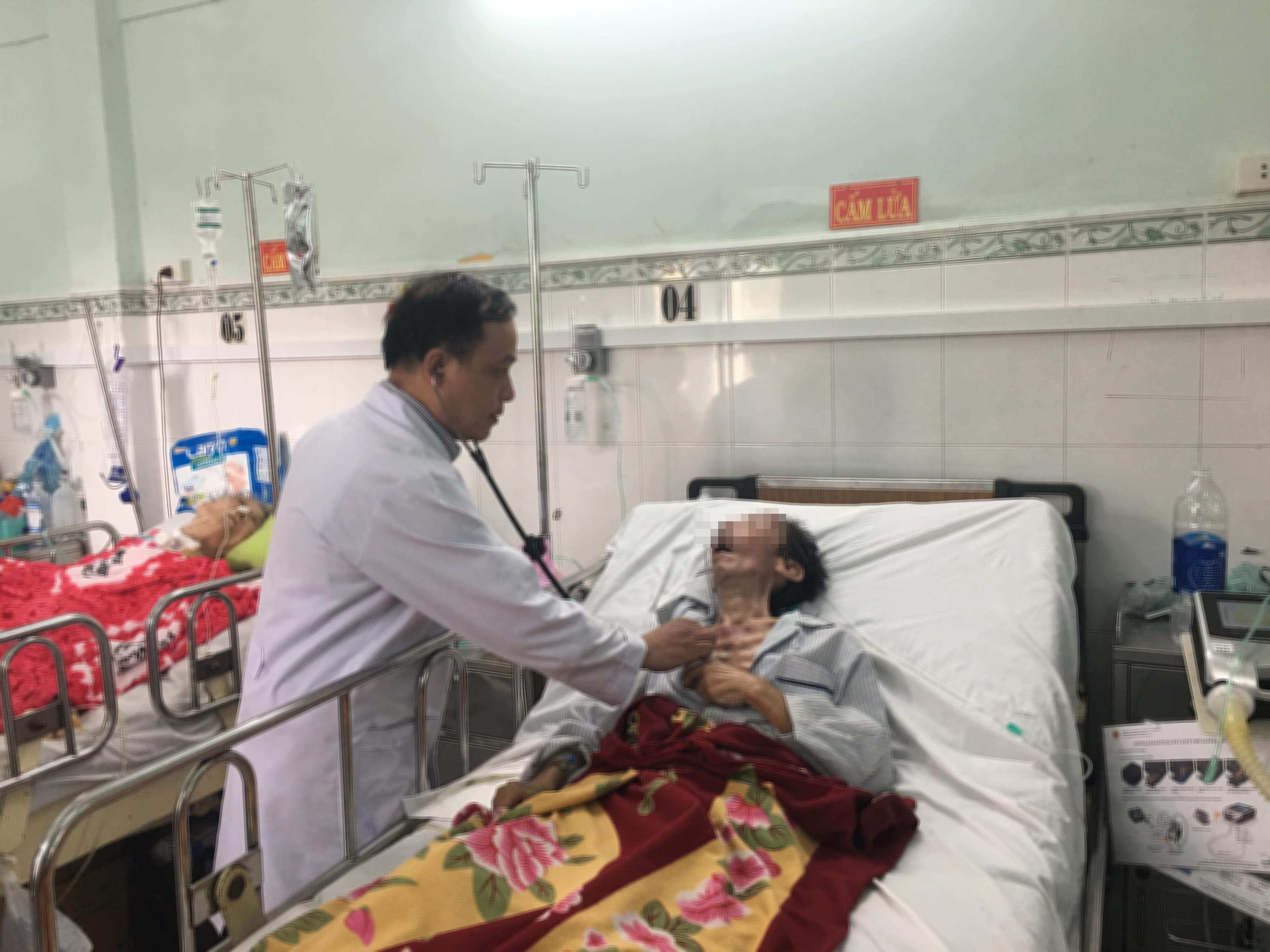 Bệnh nhân Trần Văn S. hiện đang được chăm sóc tại khoa Nội Hô hấp, BV Nguyễn Tri Phương