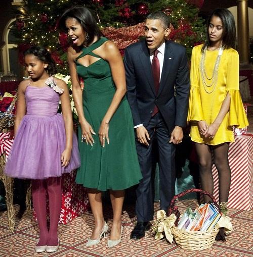 Gia đình Obama đón Giáng sinh