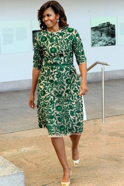 Váy voan ren xanh lá