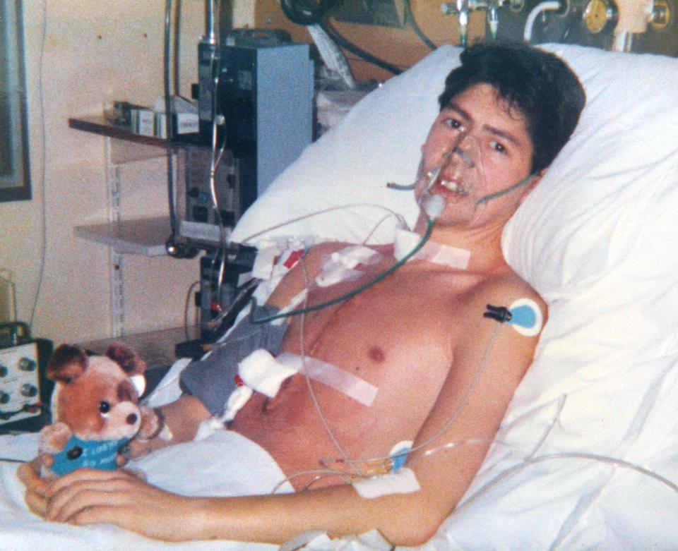 Paul Hayman sau ca ghép tim năm 1987