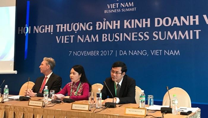 Bộ trưởng Y tế Nguyễn Thị Kim Tiến phát biểu tại Hội nghị Thượng đỉnh Kinh doanh Việt Nam, APEC 2017