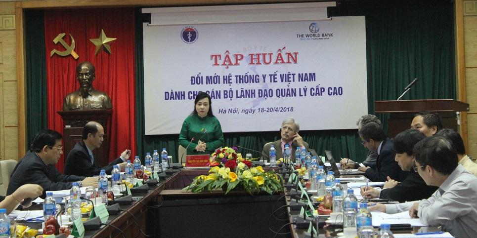 tập huấn Đổi mới hệ thống Y tế Việt Nam
