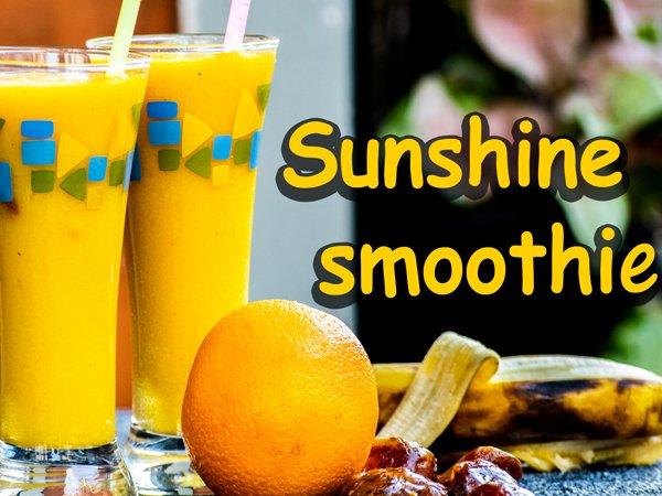 Sinh tố ánh dương (dứa, nước cam, chuối, xoài) cho một ngày mới tràn trề sinh lực