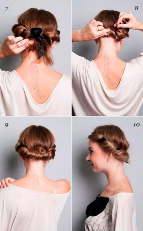 hướng dẫn vấn tóc kiểu Hy Lạp