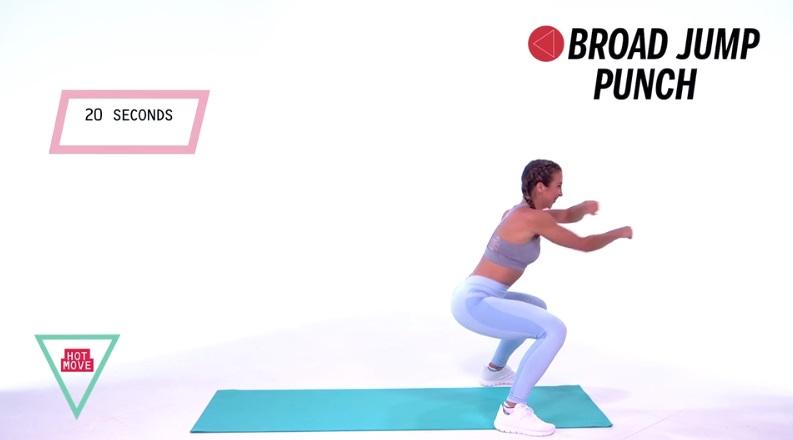 động tác kickbox 3b: nhảy xa