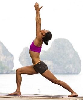 yoga tư thế chiến binh 1