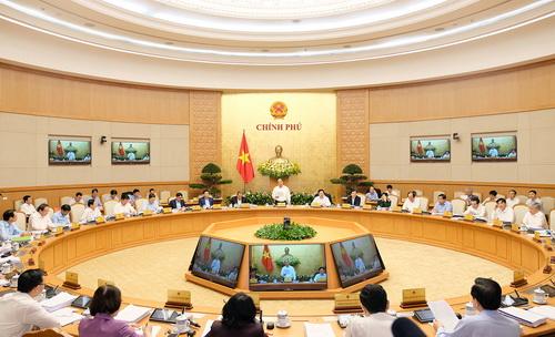 Toàn cảnh phiên họp Chính phủ thường kỳ tháng 3/2018.