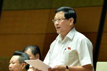 ĐB Nguyễn Hữu Cầu (Nghệ An) phát biểu tại phiên thảo luận.