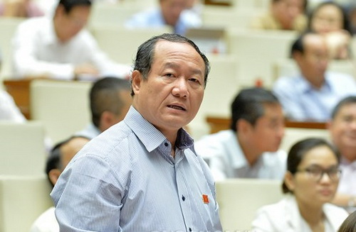 ĐBQH Bùi Mậu Quân (Hải Dương) phát biểu tại phiên họp sáng 29/5.