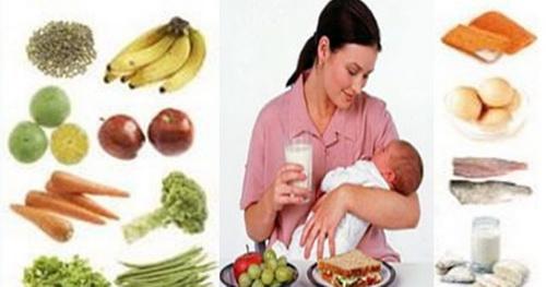 Bà mẹ nuôi con bú cần ăn đa dạng các loại thực phẩm và bổ sung thêm sữa.