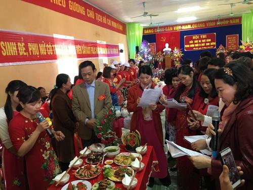 Hội thi Kiến thức và thực hành phòng chống thiếu vi chất dinh dưỡng tại Yên Bái.