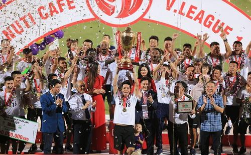 Hà Nội FC tham vọng lớn ở các năm tiếp theo. Ảnh:  Minh Tuấn