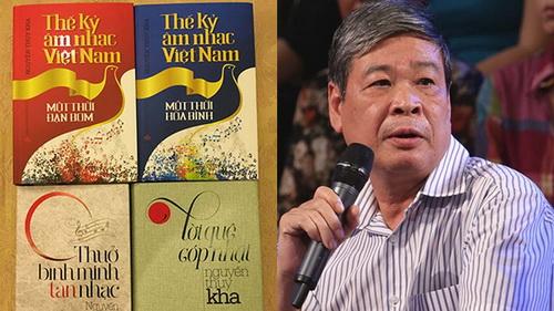 Nhà thơ, nhạc sĩ, nhà báo Nguyễn Thụy Kha và một số tác phẩm của ông.