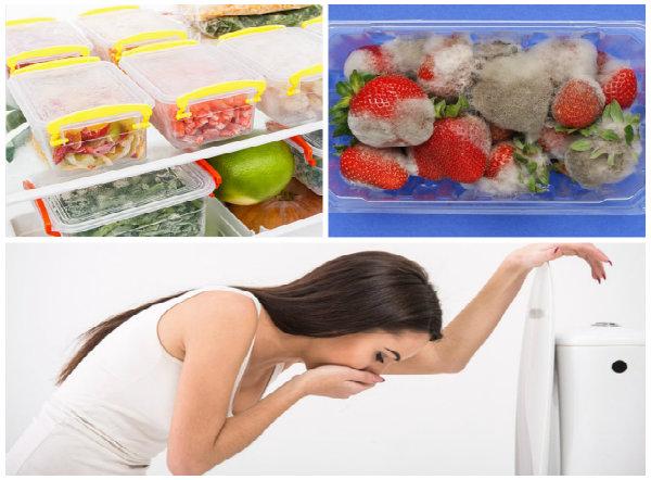 Khi ăn phải thức ăn nhiễm nấm mốc sẽ gây ngộ độc cấp tính.