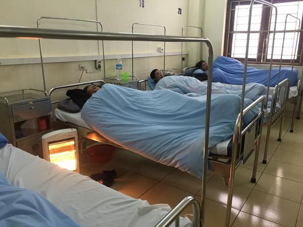 Hệ thống lò sưởi được bố trí tại các phòng điều trị bệnh nhân của TTYT Tiên Yên, Quảng Ninh.