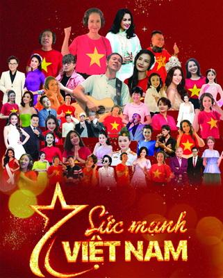 50 nghệ sĩ nổi tiếng cùng hát ca khúc Sức mạnh Việt Nam để động viên lực lượng tuyến đầu trong dịch COVID-19 lần này.