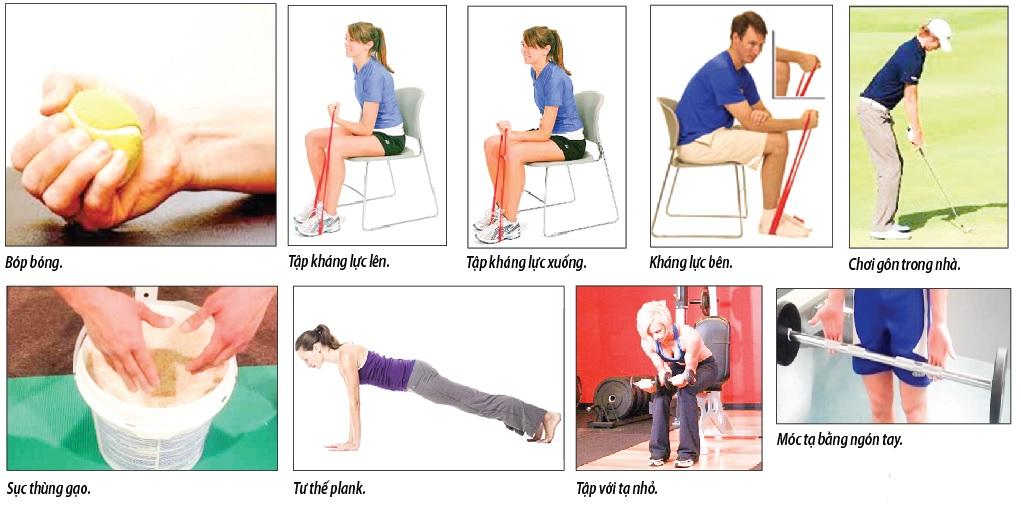 Bài tập tăng cường sức mạnh cho cổ tay