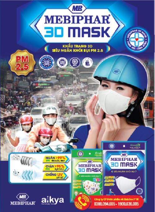 Khẩu trang y tế Mebiphar 3D Mask