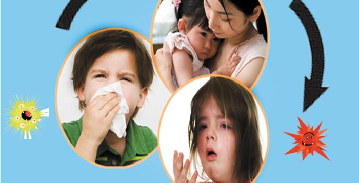 Giao mùa, trẻ dễ mắc bệnh đường hô hấp