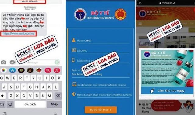 NCSC cảnh báo về các website lừa đảo trong thời gian qua