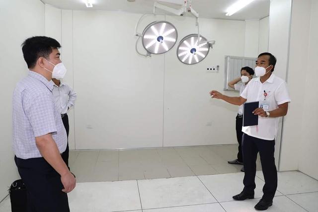 Khu phòng được cải tạo thành phòng phẫu thuật ngoại khoa