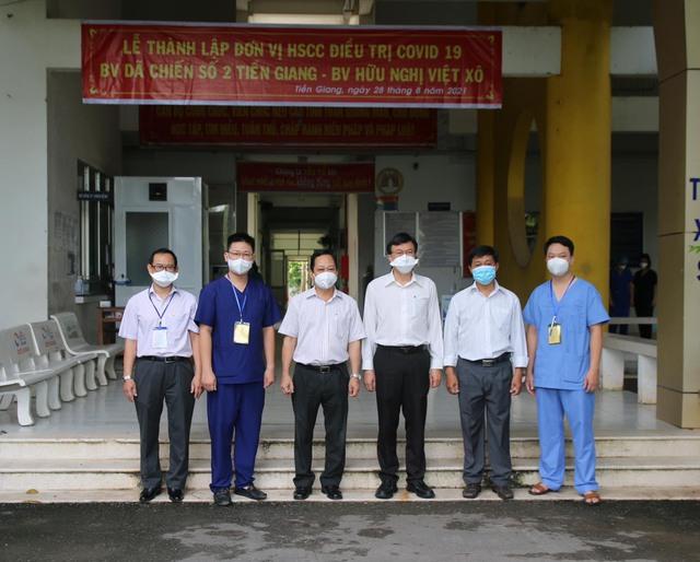 Trung tâm hồi sức tích cực thứ 2 điều trị bệnh nhân COVID-19 tại Tiền Giang đi vào hoạt động - Ảnh 2.