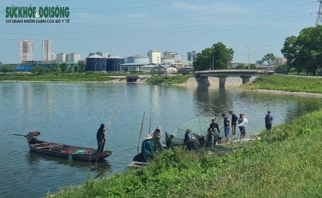 """Hàng chục người nhộn nhịp đánh bắt cá """"chui"""" ở Hà Nội, không ai bị xử phạt - Ảnh 3."""