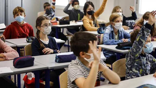 Trẻ em quay trở lại trường học vào ngày 2/9 ở Strasbourg, miền đông nước Pháp