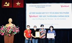 VinMart/VinMart+ tiếp sức tuyến đầu chống dịch tại TP.HCM hàng chục ngàn vật tư y tế và nhu yếu phẩm