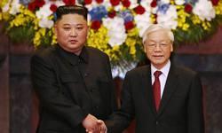 Tổng Bí thư, Chủ tịch nước Nguyễn Phú Trọng tiếp đón và hội đàm với Chủ tịch Triều Tiên Kim Jong-un