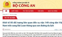 149 công dân Việt trốn sang Đài Loan, khởi tố 5 đối tượng liên quan