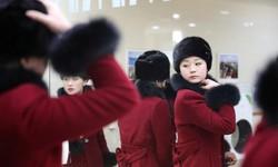 """Ngắm vẻ đẹp """"nguyên đai"""" của 230 CĐV Triều Tiên sang Hàn Quốc"""