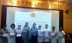 Công đoàn Y tế VN hỗ trợ cán bộ y tế mắc bệnh hiểm nghèo tại Bệnh viện K